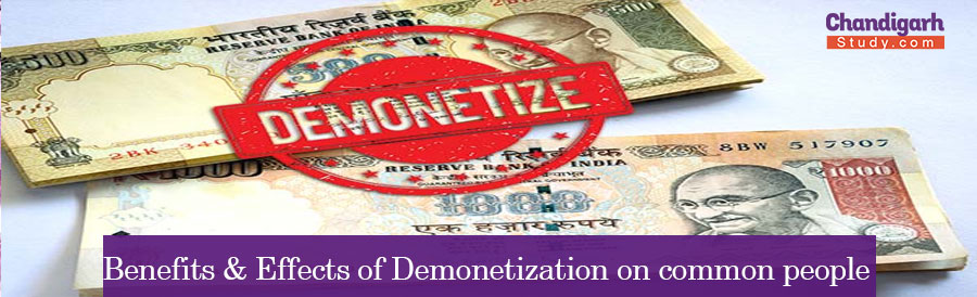 Benefits & Effects of Demonetization on common people