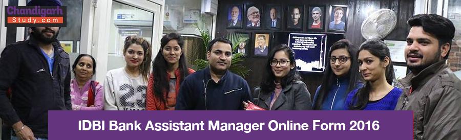 IDBI Bank Assistant Manager Online Form 2016