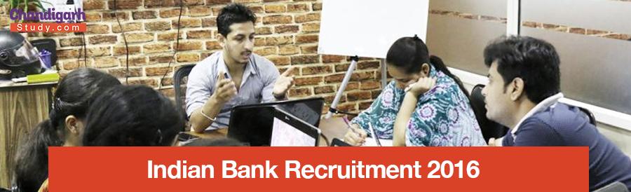 Indian Bank Recruitment 2016