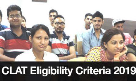 CLAT Eligibility Criteria 2019