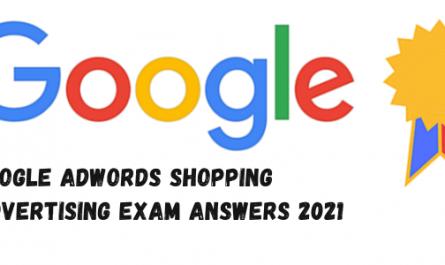 Google AdWords Shopping Advertising Exam Answers 2021